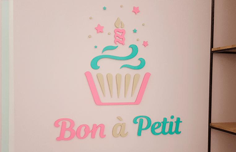 Интерьерная вывеска для кафе Bon a Pettit